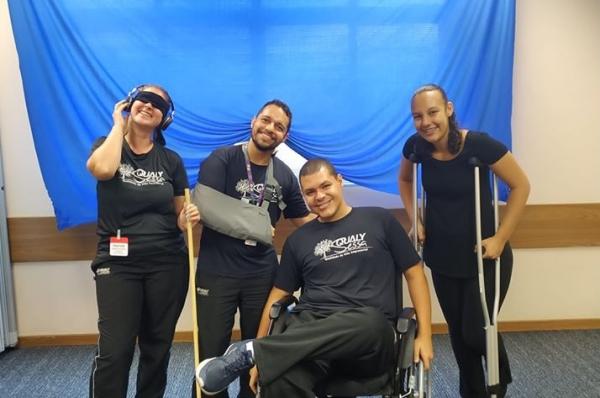 Equipe Qualy Sessa desenvolve atividade