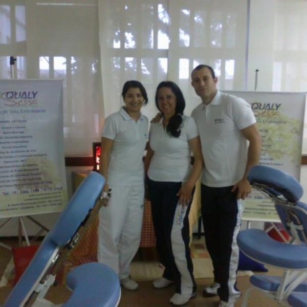 Quick Massage é destaque em eventos na Fundação FEAC e Petrobrás