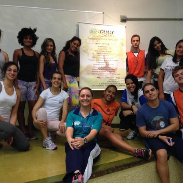 Ginástica Laboral é tema de workshop ministrado pela Qualy Sessa aos alunos da Faculdade de Educação Física da PUC-Campinas